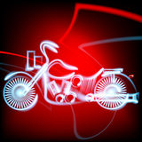Vector illustration abstract motorbike icon background Stock Photography