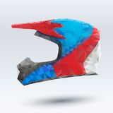 Vector Illustration abstract motorcycle helmet Royalty Free Stock Image