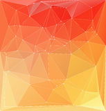 Vector illustration. Abstract orange yellow colorful polygonal b Royalty Free Stock Photos