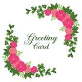 Vector illustration abstract pink rose flower frame for design of greeting card vector illustration