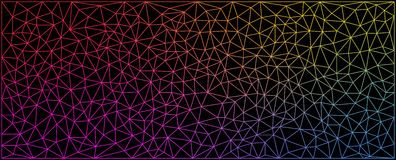 Vector illustration - abstract polygonal colorful background Stock Photo