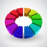 Vector Illustration of abstract rainbow circle Stock Photo