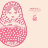 Vector illustration of abstract Russian matryoshka doll Stock Photography