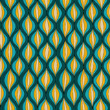 Vector illustration abstract seamless pattern. Repeating retro patern made in green, yellow and blue tones Royalty Free Stock Photos