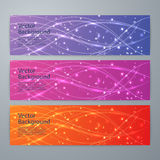 Vector illustration of abstract shiny background banner Royalty Free Stock Image