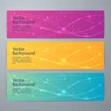 Vector illustration of abstract shiny background banner Stock Photos