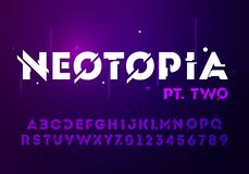 Free Vector Illustration Abstract Technology Font With Techno Effect. Digital Space Letter Concept. Typography In Futuristic Minimalis Royalty Free Stock Photography - 171666177