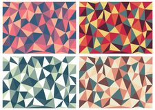 Vector Illustration Of Abstract Triangles Background. Eps 10 Stock Photography
