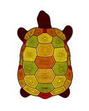 Vector illustration of abstract turtle Royalty Free Stock Image