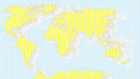Vector illustration abstract  World Map background Royalty Free Stock Image
