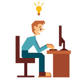 Vector illustration of administrator with good Stock Image