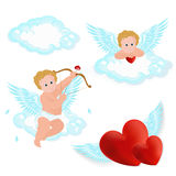 Vector illustration of adorable angel Stock Photos