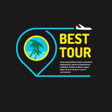 Vector illustration for advertising the best of the tour Stock Photos