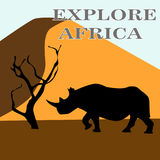 Vector illustration of Africa Stock Images