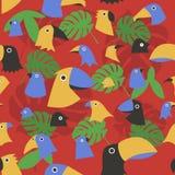 Vector illustration african style birds pattern Stock Photos