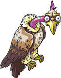 Vulture. The vector illustration of the aggressive wild vulture staring at camera Royalty Free Stock Images