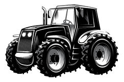 Vector illustration of agricultural tractor for design Royalty Free Stock Photo