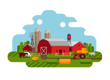 Vector illustration of Agriculture and Farming icons. Farm  on a white background. vector illustration Royalty Free Stock Photos