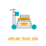 Vector illustration of airplane travel icon Royalty Free Stock Photography