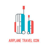Vector illustration of airplane travel icon Stock Photography