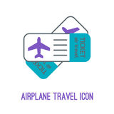 Vector illustration of airplane travel Royalty Free Stock Images