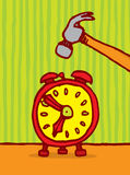 Killing time / Alarm snooze. Vector illustration of an alarm clock Stock Photo