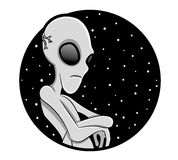Vector illustration. Alien. Royalty Free Stock Images