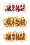 Vector illustration of aloha word Royalty Free Stock Images