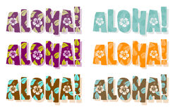 Vector illustration of aloha word royalty free illustration