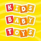 Vector illustration alphabet. Cartoon letters. Kids. Baby. YellowToys. Vector illustration alphabet. Cartoon letters. Kids. Baby. Toys. Yellow background stock illustration