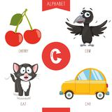 Vector Illustration Of Alphabet Letter C And Pictures. Eps 10 royalty free illustration