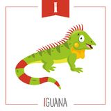 Vector Illustration Of Alphabet Letter I And Iguana. Eps 10 royalty free illustration