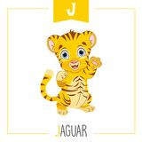Vector Illustration Of Alphabet Letter J And Jaguar. Eps 10 royalty free illustration