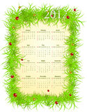 Vector illustration of American 2012 calendar Royalty Free Stock Images