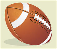 Vector illustration. American football ball. Stock Images