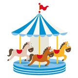 Vector Illustration Of Amusement Park eps 10 royalty free illustration