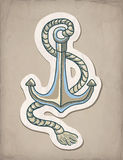 Vector illustration of anchor Royalty Free Stock Images