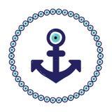 Anchor nazar blue Stock Photo