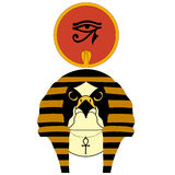 Vector illustration of the ancient egyptian god Ra Royalty Free Stock Photography