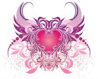 Vector illustration with angel Royalty Free Stock Image