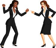 Furious Businesswomen Fighting Royalty Free Stock Image
