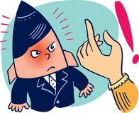 Vector illustration, with an angry child being quarreled Stock Photos