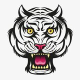 Tiger head modification. Vector illustration, Angry tiger head modification symbol vector illustration