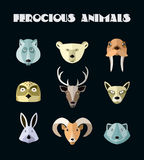 Vector illustration of animals of the northern territories. Royalty Free Stock Photography