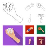 Vector design of animated and thumb sign. Collection of animated and gesture vector icon for stock. Vector illustration of animated and thumb logo. Set of vector illustration