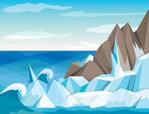 Vector illustration Antarctic landscape Royalty Free Stock Photography