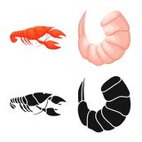 Vector design of appetizer and ocean icon. Set of appetizer and delicacy stock symbol for web. Vector illustration of appetizer and ocean symbol. Collection of vector illustration