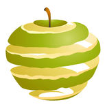 Vector illustration of an apple cutaway Stock Images