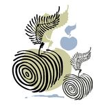 Vector illustration apple Stock Image