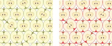 Vector illustration with apples Stock Photography